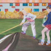 Udendørs. Maleri af Martha Kramær