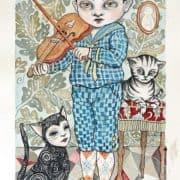Akvarel af Julie Nord