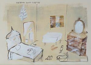 Madeleine Pyk akvarel 1978
